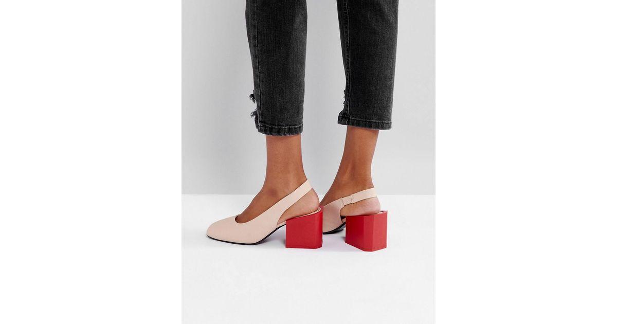 MANGO Contrast slingback shoes Tra0fXOH