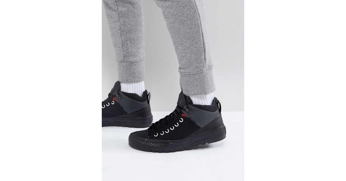 8c0ac20b5806fa Lyst - Converse Chuck Taylor All Star Street Boot Plimsolls In Black  157474c in Black