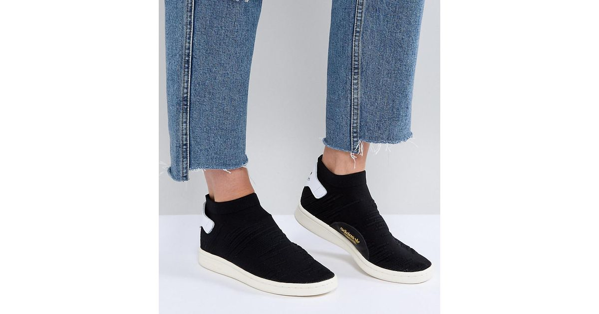 ... where to buy lyst adidas originals originals black stan smith primeknit  sock trainers in black for b2d6c6c44da2