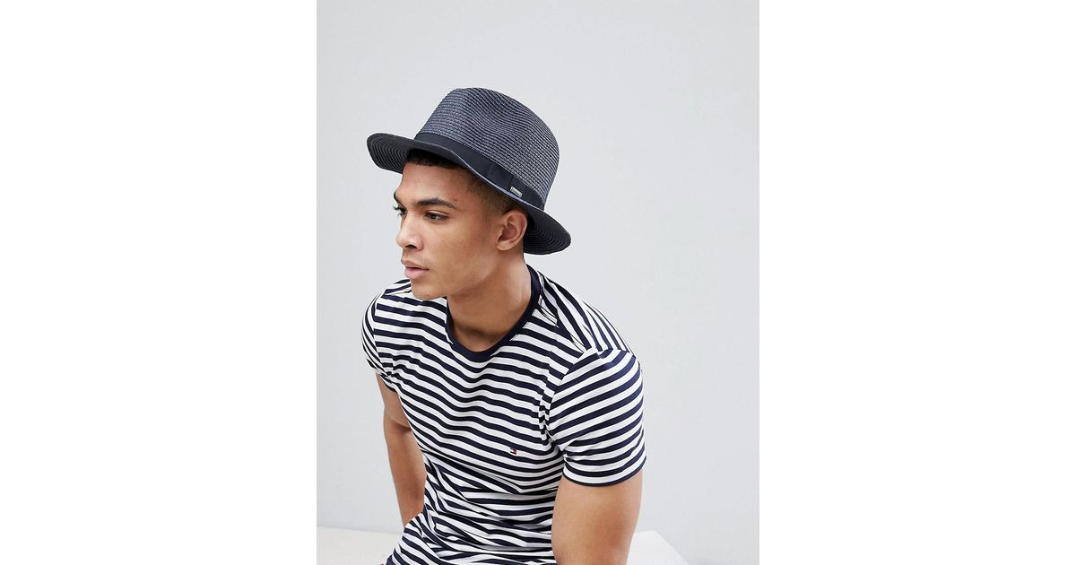 84990948f39 Barts Aveloz Summer Trilby Hat in Blue for Men - Lyst