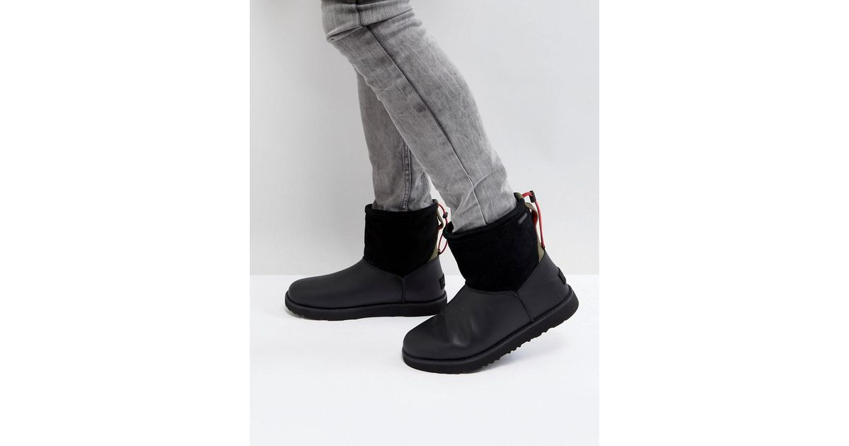 3c029d69b UGG Classic Toggle Waterproof Boots in Black - Lyst
