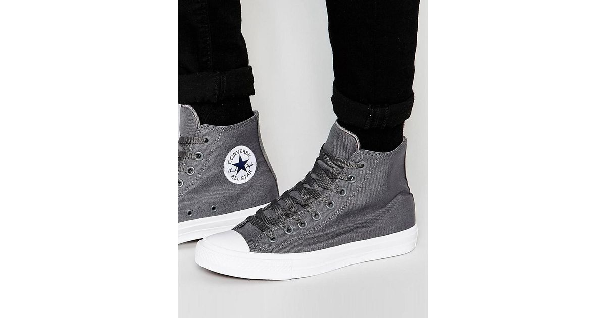 b8334b972289 Converse Chuck Taylor All Star Ii Hi-top Plimsolls In Grey 150147c in Gray  for Men - Lyst