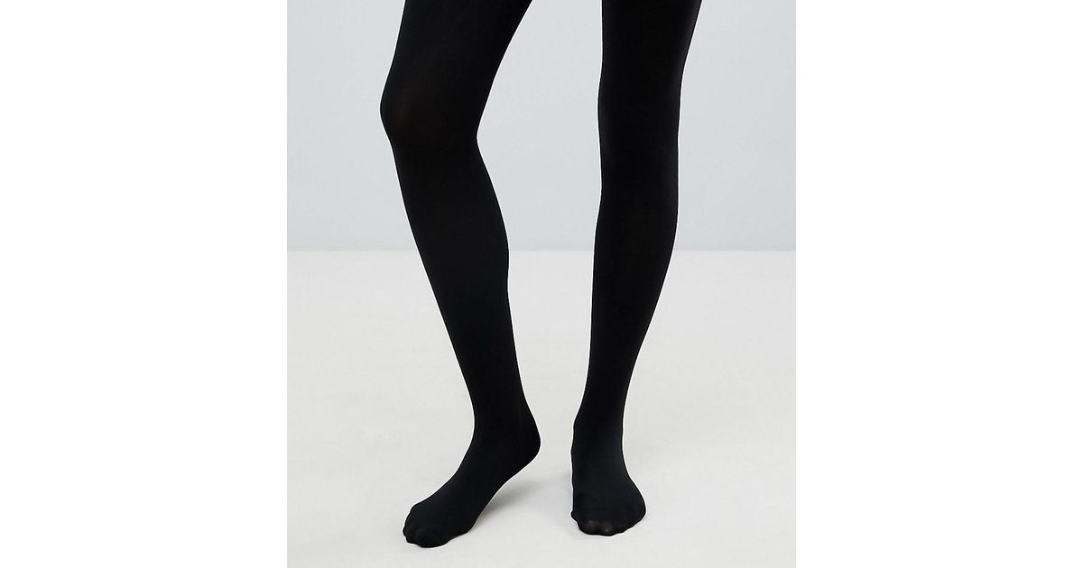 1e6dc92d2 ASOS   New Improved Fit 120 Denier Tights in Black - Lyst