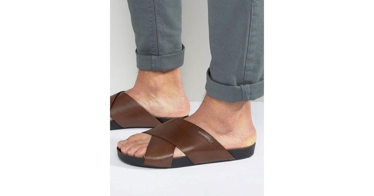 c2730d67e8 Lyst - Vagabond Funk Cross Over Sandals in Brown for Men