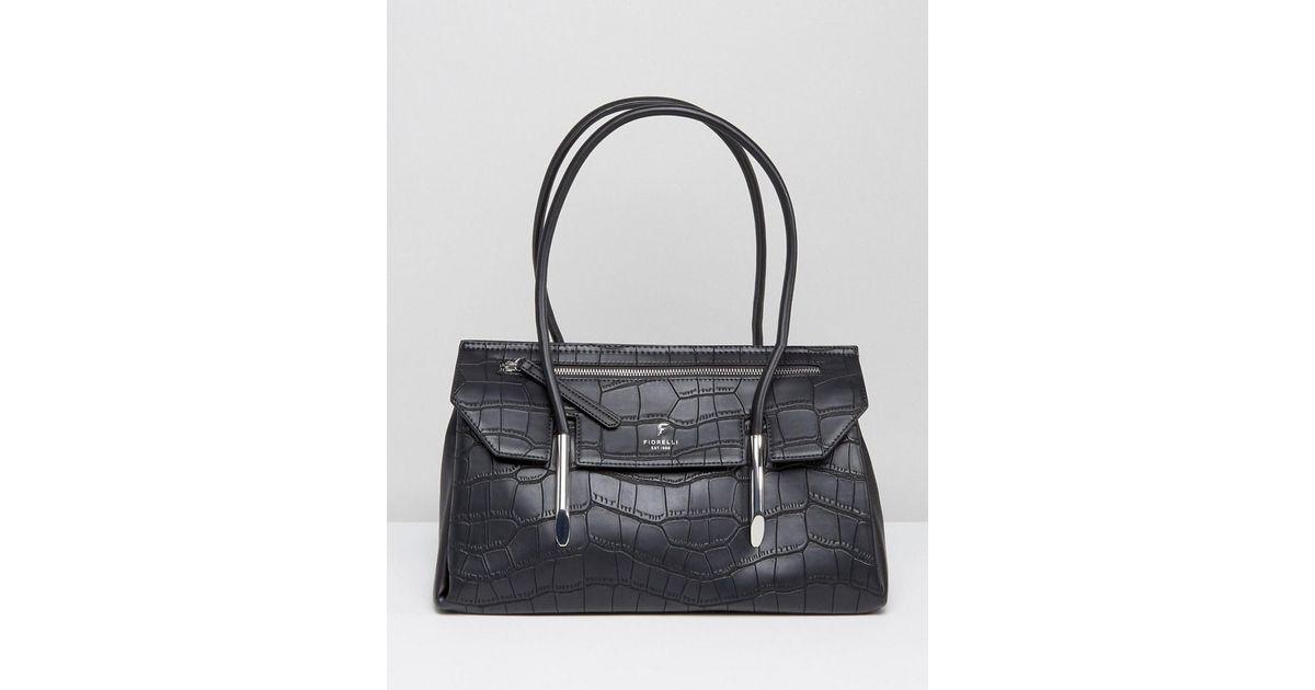 7ee8b01723cf Lyst - Fiorelli Carlton East West Shoulder Bag in Black