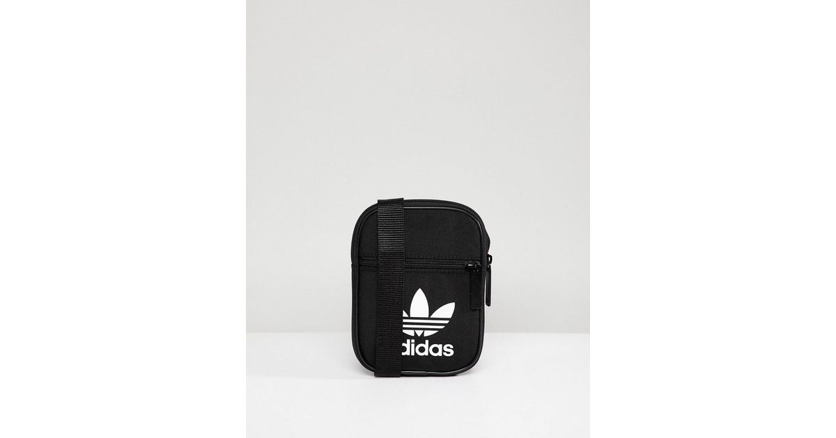 Lyst - adidas Originals Originals Festival Mini Multi Way Bag With Trefoil  Logo In Black in Black d4a185725db28