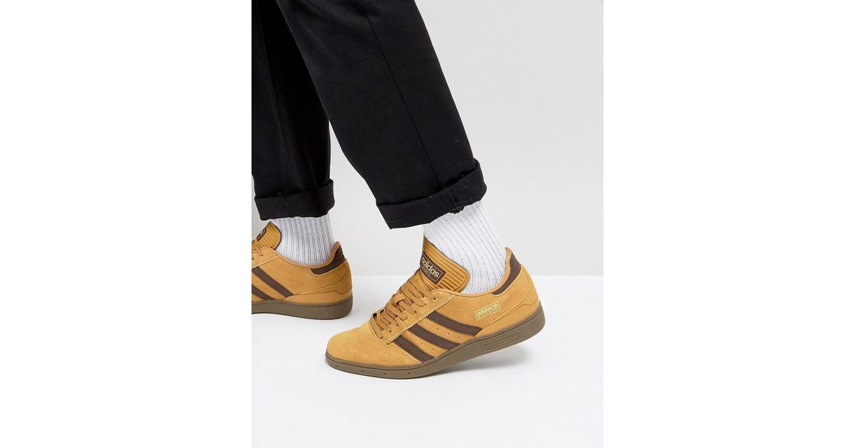 d419829fdbc671 Lyst - adidas Originals Busenitz Trainers In Yellow By3966 in Yellow for Men