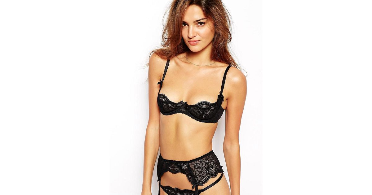 02c8750db7 Lyst - L Agent by Agent Provocateur Vanesa Non Padded Demi Bra in Black