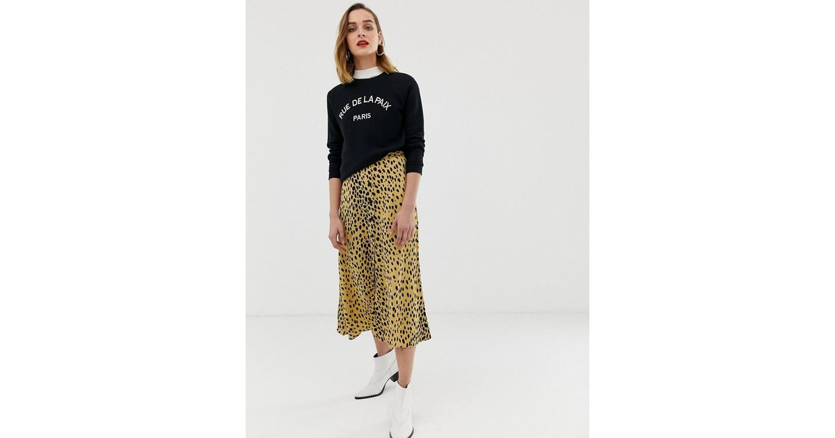 0bd0746e785b Whistles Animal Print Midi Skirt - Save 40% - Lyst