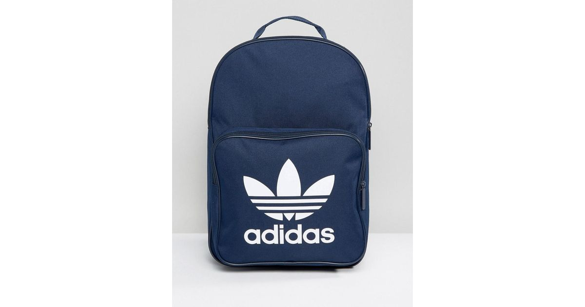Lyst - adidas Originals Trefoil Backpack In Collegiate Navy With Front  Pocket Bk6724 in Blue for Men b167d5bbc5af8