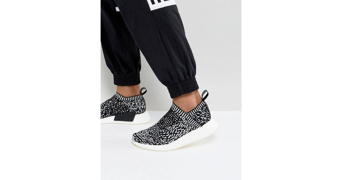 b674bc7ee Lyst - adidas Originals Nmd cs2 Primeknit Sneakers in Black for Men - Save  52%