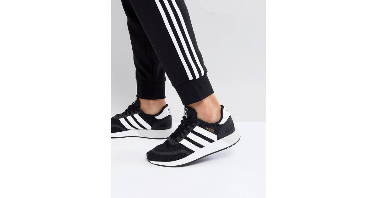 lyst adidas originali n 5923 runner scarpe in nero cq2337 in