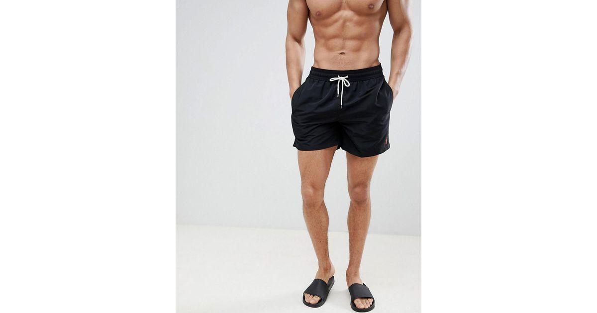 ef81735725558 ... greece polo ralph lauren traveler swim shorts black in black for men  lyst 49c68 16a26