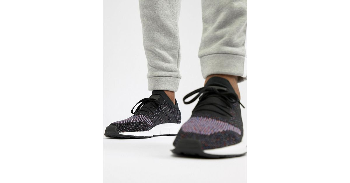 d13777c45 Lyst - adidas Originals Swift Run Primeknit Trainers In Black Cq2894 in  Black for Men