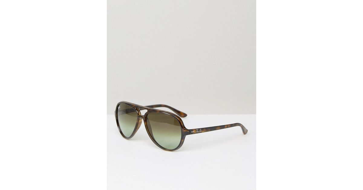 a4dabca5db ... order ray ban aviator sunglasses 0rb4125 in brown for men lyst b8fdd  e7197