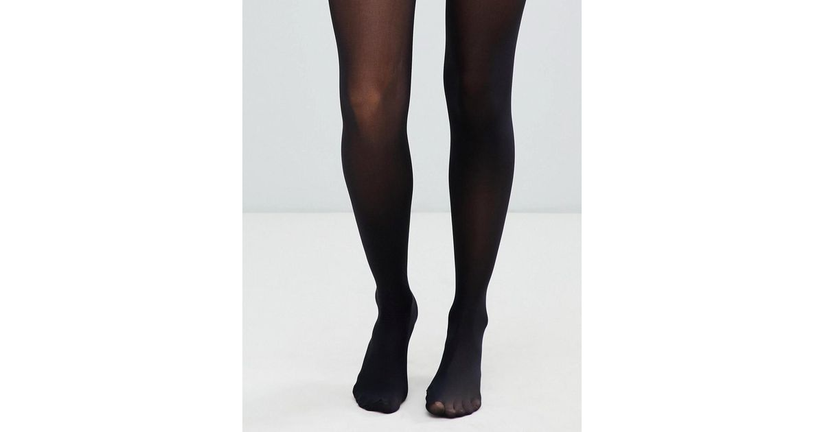 9b9097304 ASOS Recycled 40 Denier Tights With Bum Tum Thigh Support in Black - Lyst