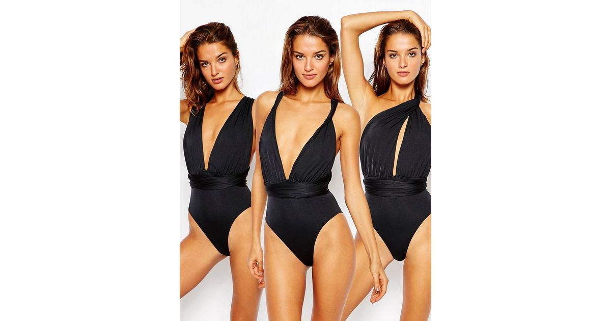 6ed4481812de0 Lyst - ASOS Multiway Swimsuit in Black