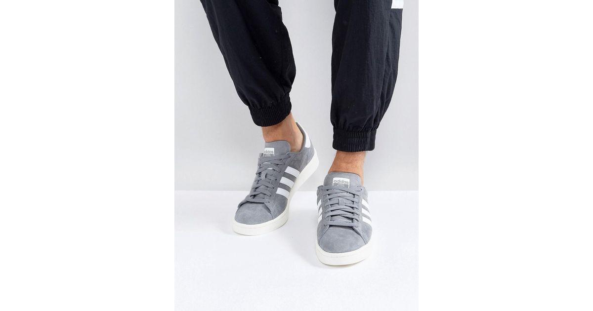 lyst adidas originals campus - sneakers in grau in grau bz0085 für männer