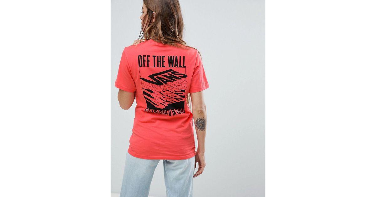 41c168773bcbc T-shirt avec imprimé effet superposé au dos Vans en coloris Rouge - Lyst