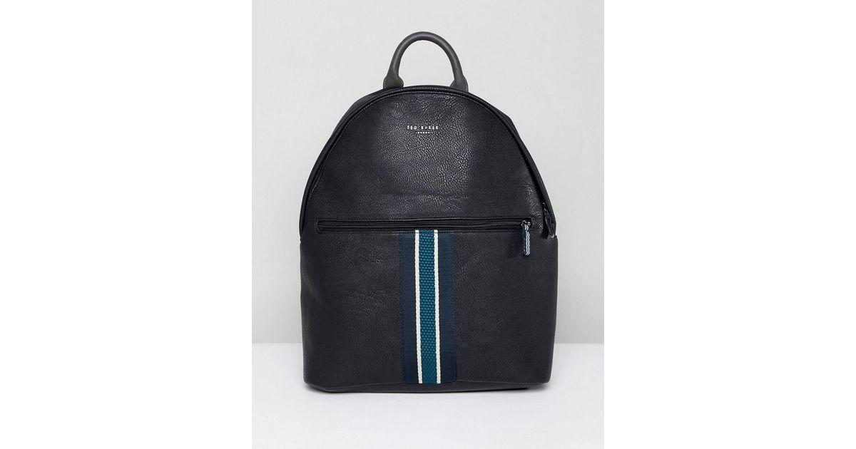 dedfdcf4fc Lyst - Ted Baker Heriot Webbing Backpack in Black for Men