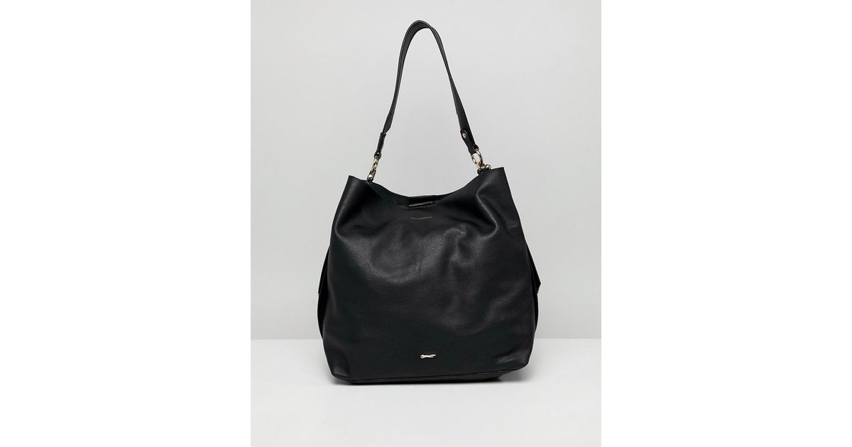 40ce1654df2b0 Lyst - Paul Costelloe Real Leather Slouch Shoulder Bag in Black