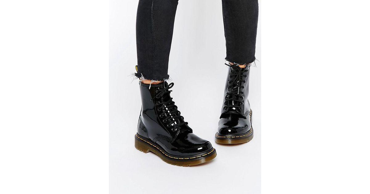 cc78d9db9b5 Lyst - Dr. Martens Modern Classics 1460 Patent 8-eye Boots in Black