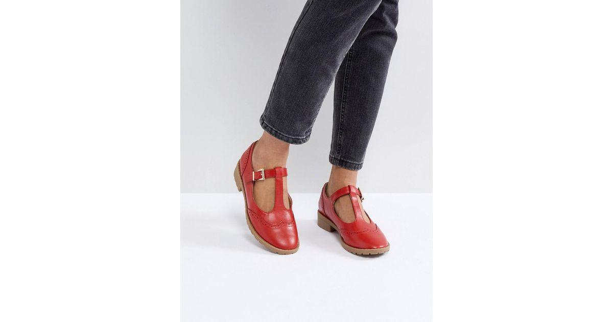 Asos Chaussures Plates - Maxime Rouge 8Krc4KC6S