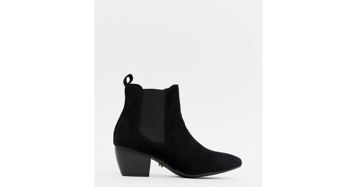 20698d1890d6 Lyst - Oasis Heeled Chelsea Boots In Black in Black