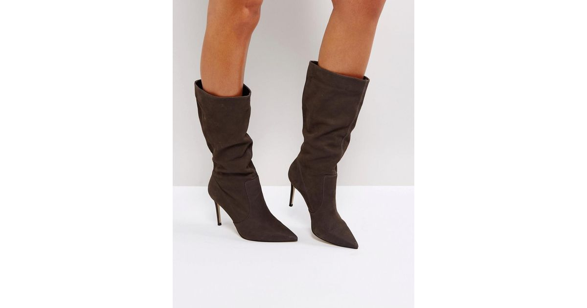 Carvela Special Suede Slouch Heeled Ankle Boots e4stdNxX