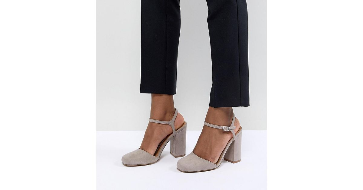 DESIGN Penny Heels - Grey Asos Free Shipping Huge Surprise 2018 Sale Online Clearance Best Sale Inexpensive Sale Online rBwWLKeTKC