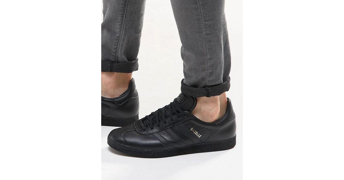 adidas originals gazelle trainers in black bb5497