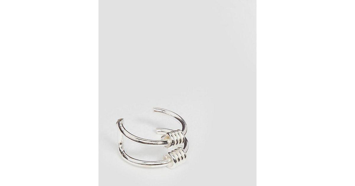 Lyst - Kingsley Ryan Sterling Silver Wire Wrap Ear Cuff in Metallic
