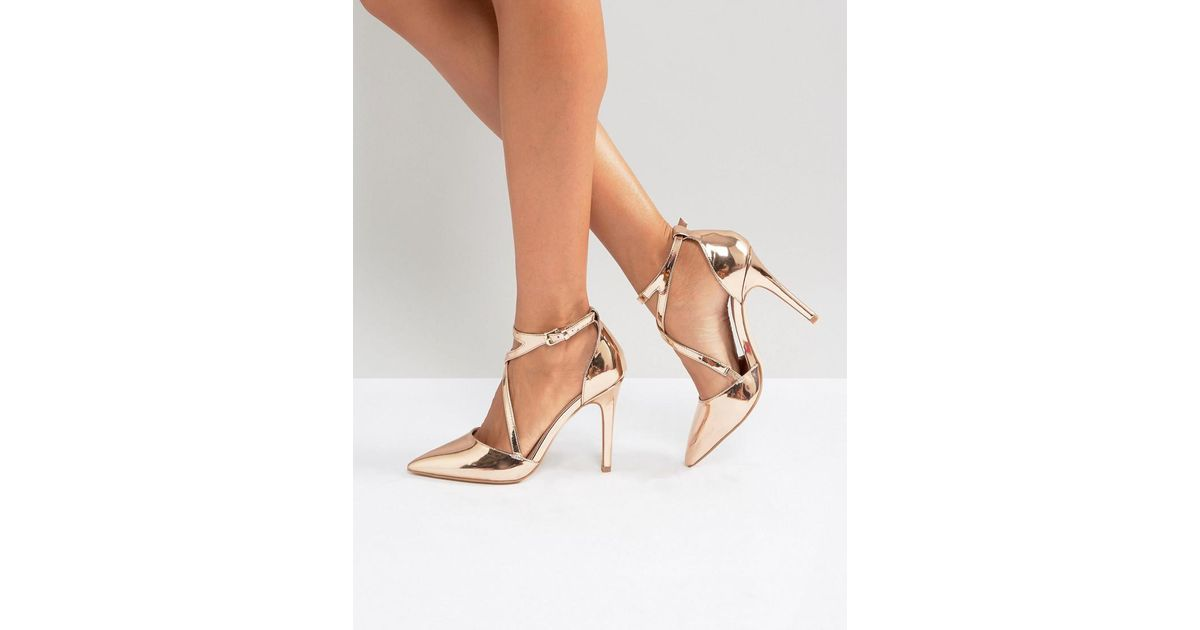 379ab5ff7a Miss Kg Crossover Point High Heels - Lyst