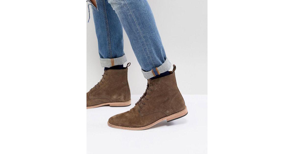Dentelle Design Asos Up Chaussures En Daim Taupe Avec Semelle Naturelle - Taupe 1QKnKIwQjV