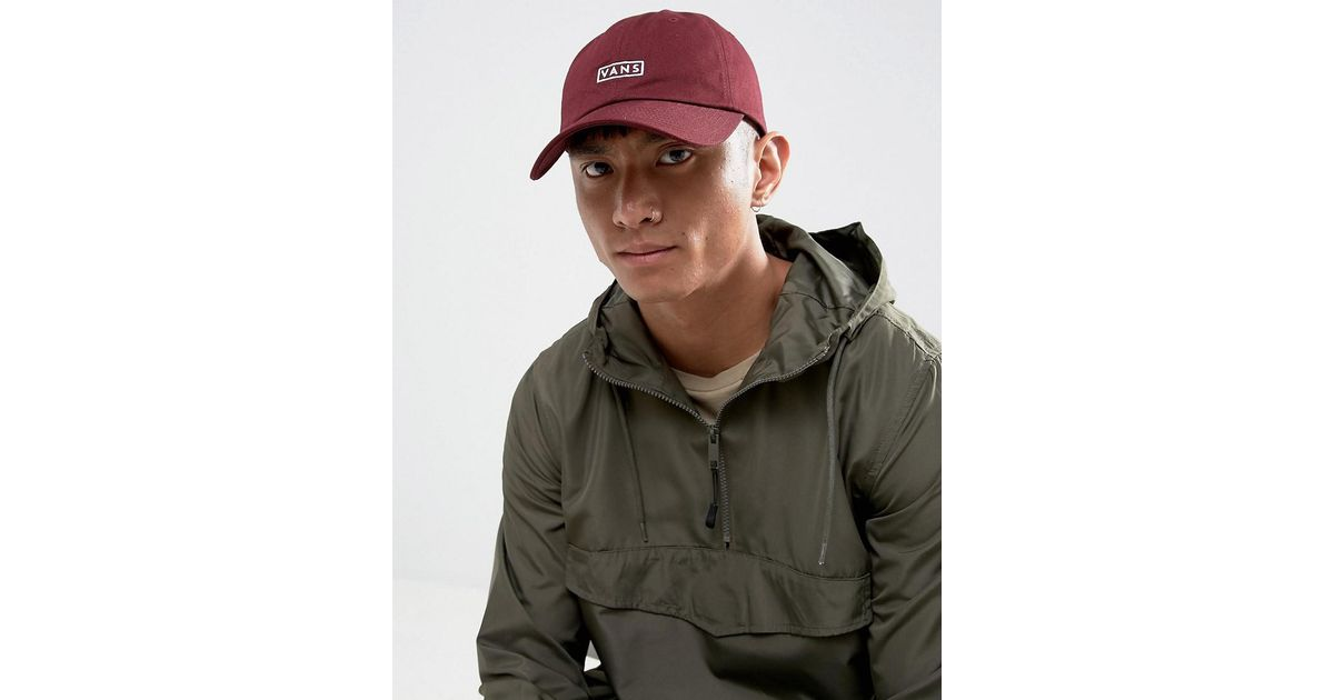 Vans Bill Jockey Cap In Burgundy Va36iu4qu in Red for Men - Lyst 862955f2e8