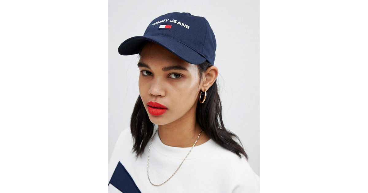 ee7f7863 Tommy Hilfiger Tommy Jeans 90s Capsule 5.0 Sailing Cap in Blue - Lyst