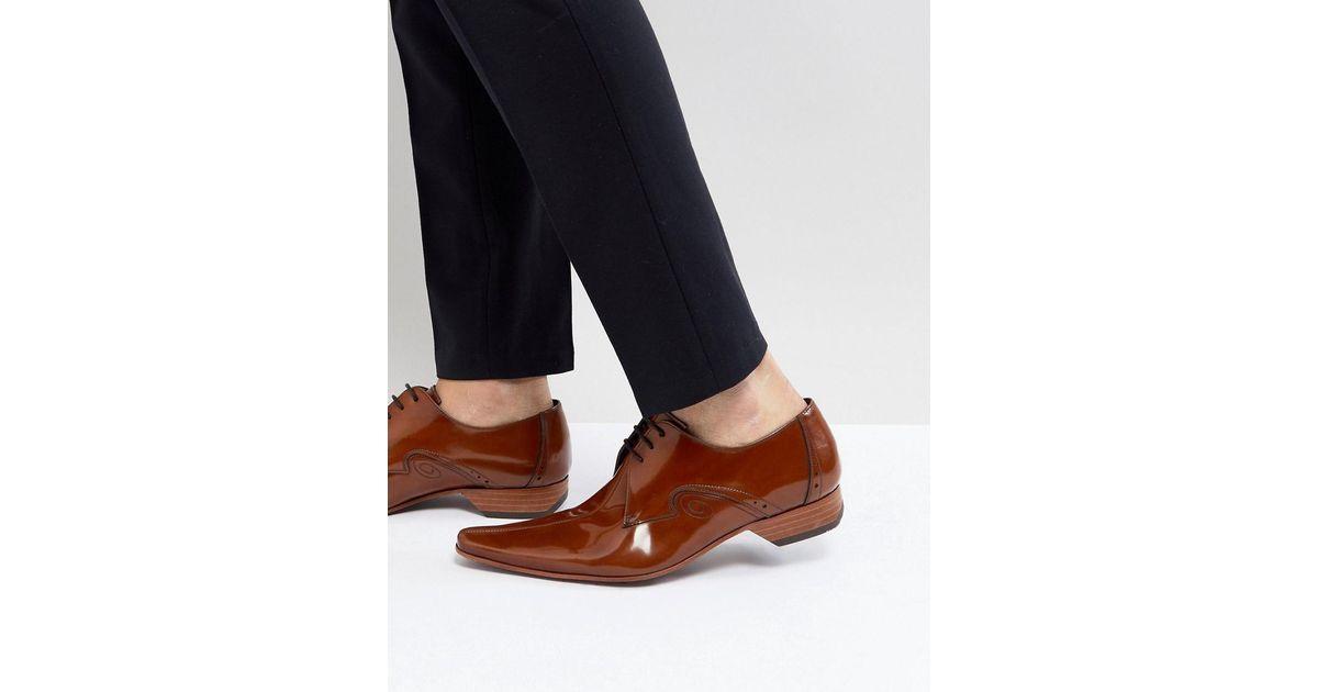 Jeffery Chaussures De Couture À L'ouest Du Centre De Pino En Tan Tan - vErSAlnJy