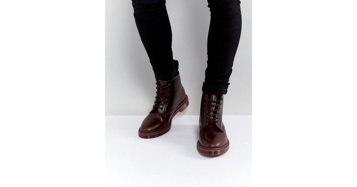 48ebcd3331e6 Dr. Martens 101 Br 6 Eye Color Block Boots in Red for Men - Lyst