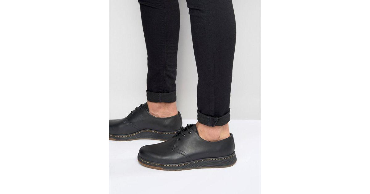 98ea5abad2 Dr. Martens Lite Cavendish 3-eye Shoes in Black for Men - Lyst