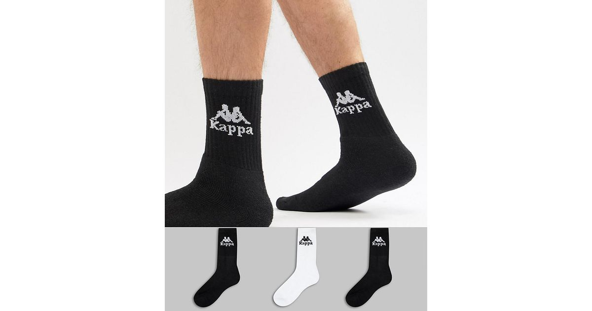 Free Shipping Countdown Package 3 pack Ankle Socks - Black Kappa For Cheap Online aksTe