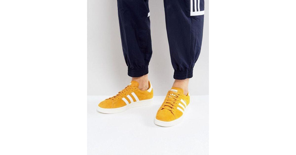 df63daf2dc43c4 Lyst - adidas Originals Campus Sneakers In Yellow Bz0088 in Yellow for Men