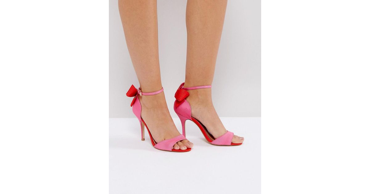 435c18edf1e1 Lyst - Miss Kg Gianna Hot Pink Heeled Sandals in Pink