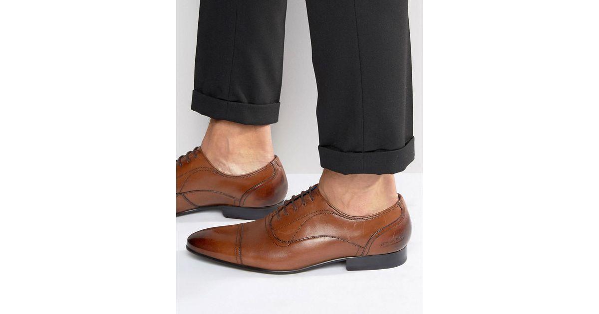ea340f922 Lyst - Ted Baker Umbber Toe Cap Oxford Shoes in Brown for Men