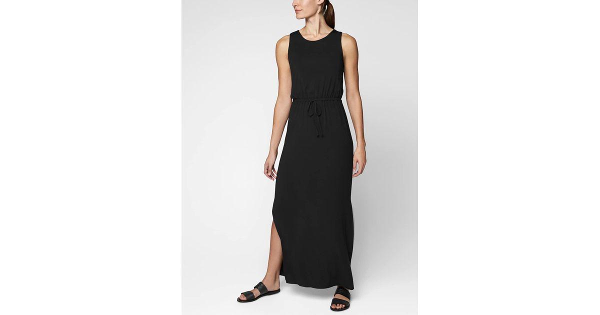 8b05eb897d3 Lyst - Athleta Keyhole Maxi Dress in Black