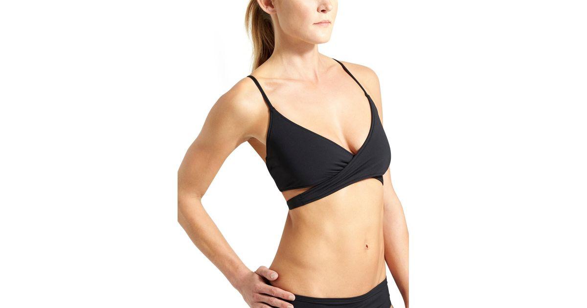 e14b1e47c0623 Lyst - Athleta Y-back Wrap Bikini in Black