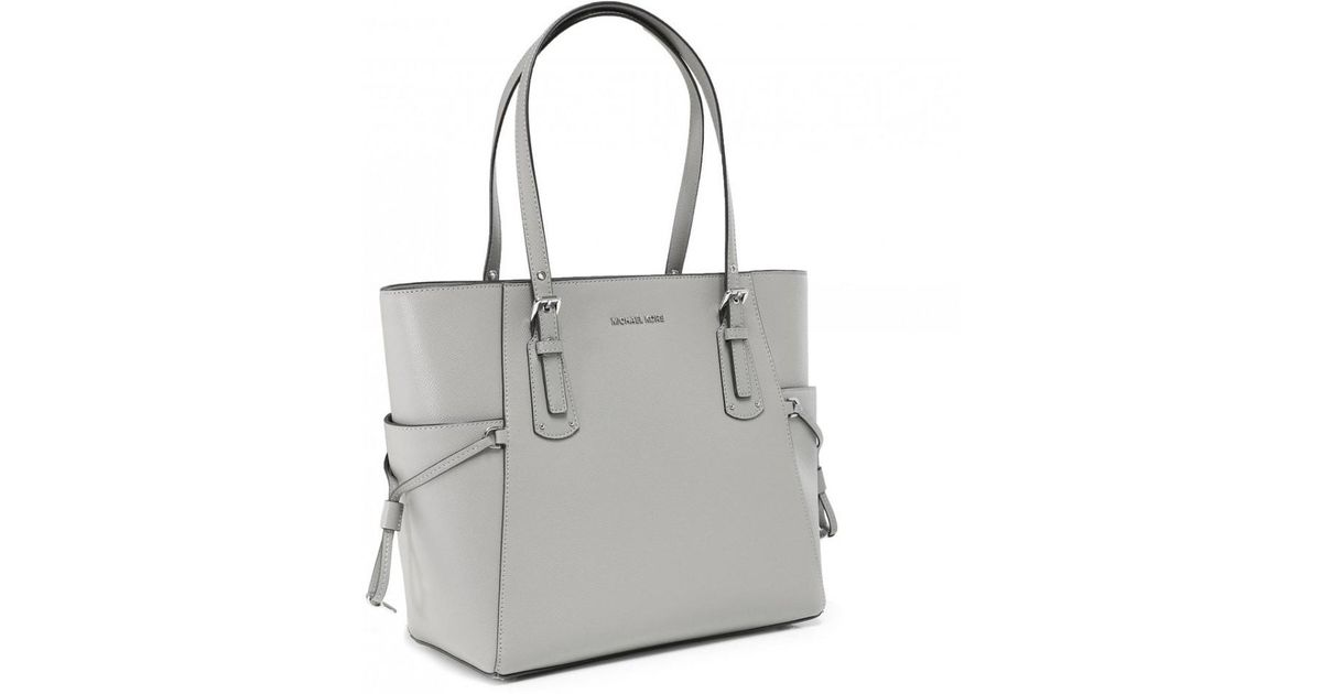 50e2e6c39e3d MICHAEL Michael Kors Crossgrain Leather Voyager Tote Bag in Gray - Save 30%  - Lyst