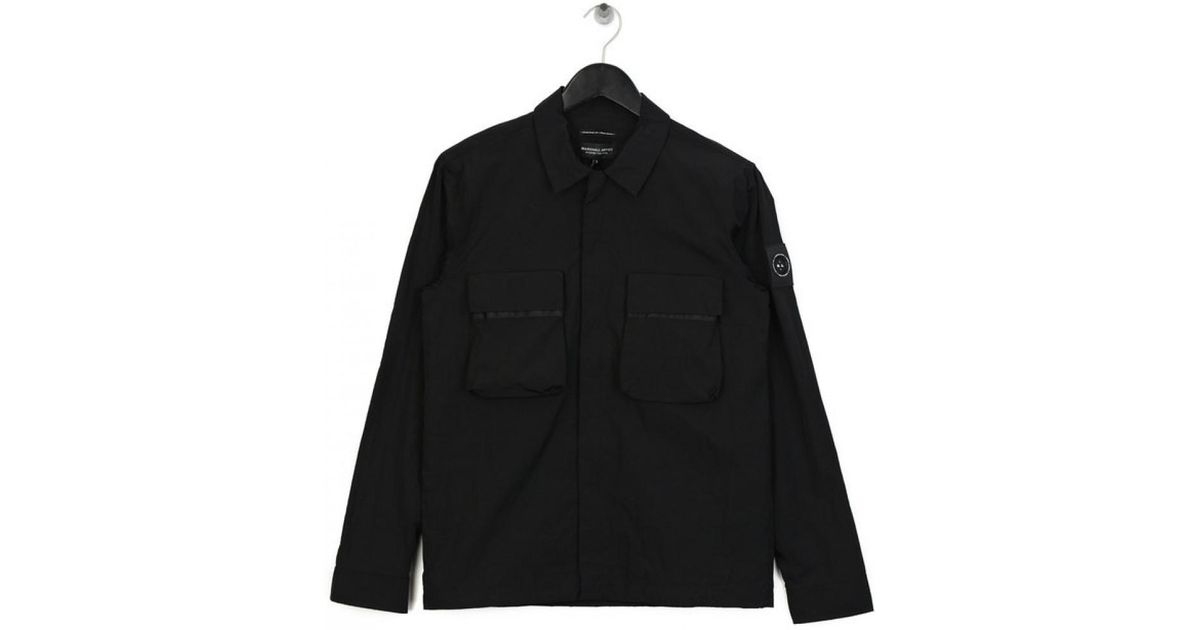 59513a165eb Marshall Artist Liquid Bellow Pocket Overshirt Black in Black for Men - Lyst