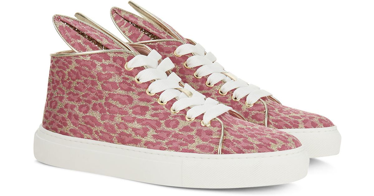 minna parikka pink panther high top sneakers in pink lyst