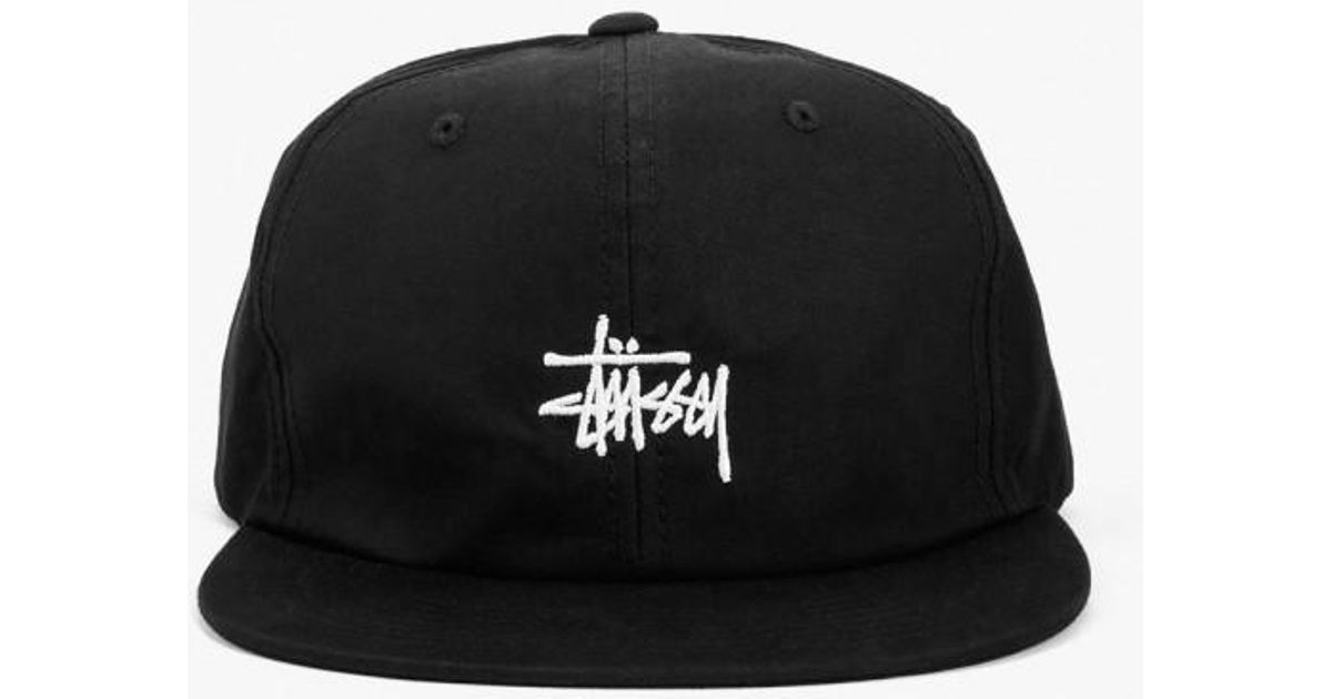 2d7fd1187d8 Stussy Saturn Strapback Hat in Black for Men - Lyst