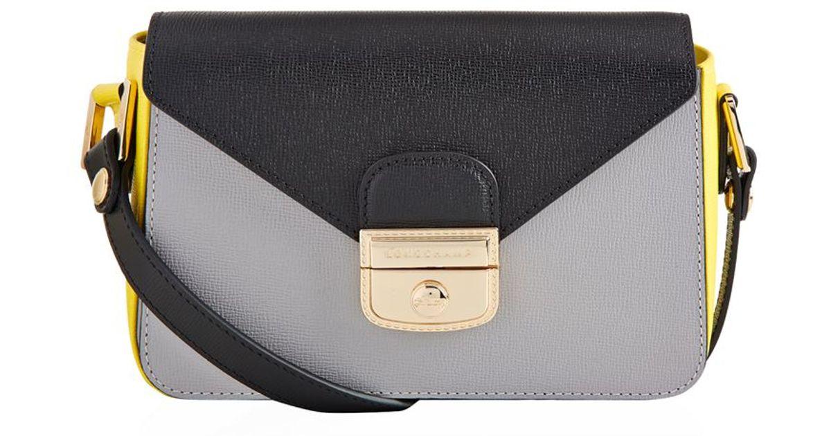 0e39c57728fc Longchamp Le Pliage Hã©ritage Crossbody Bag in Gray - Lyst